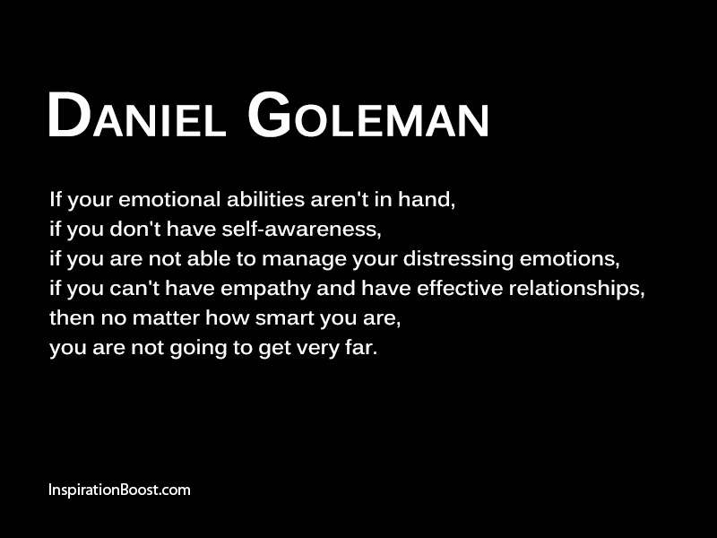 Daniel Goleman Emotion Quotes Inspiration Boost