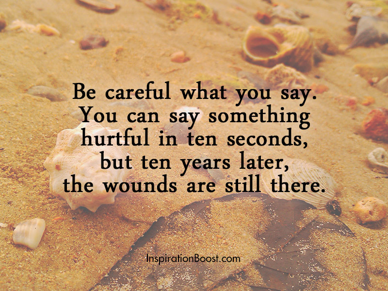 Careful on Words You Say | Inspiration Boost